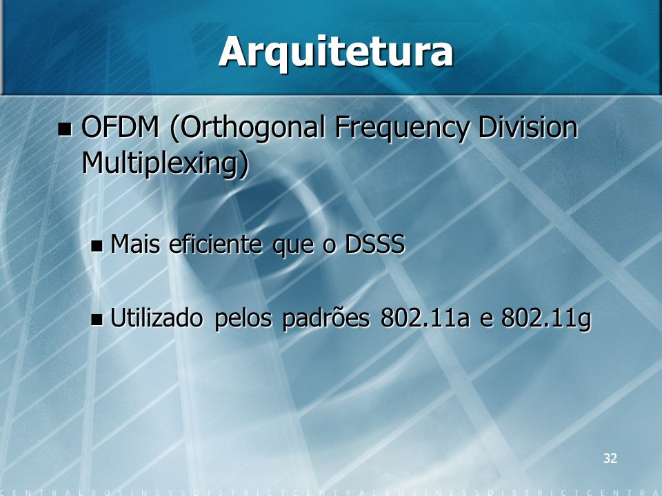 Arquitetura OFDM (Orthogonal Frequency Division Multiplexing)