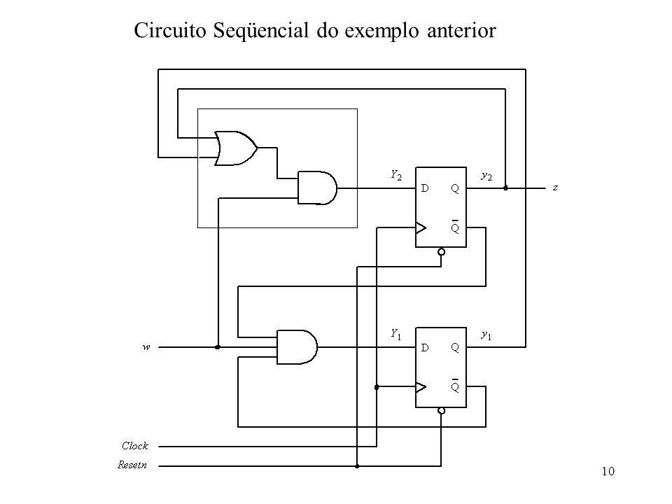Circuito Seqüencial do exemplo anterior