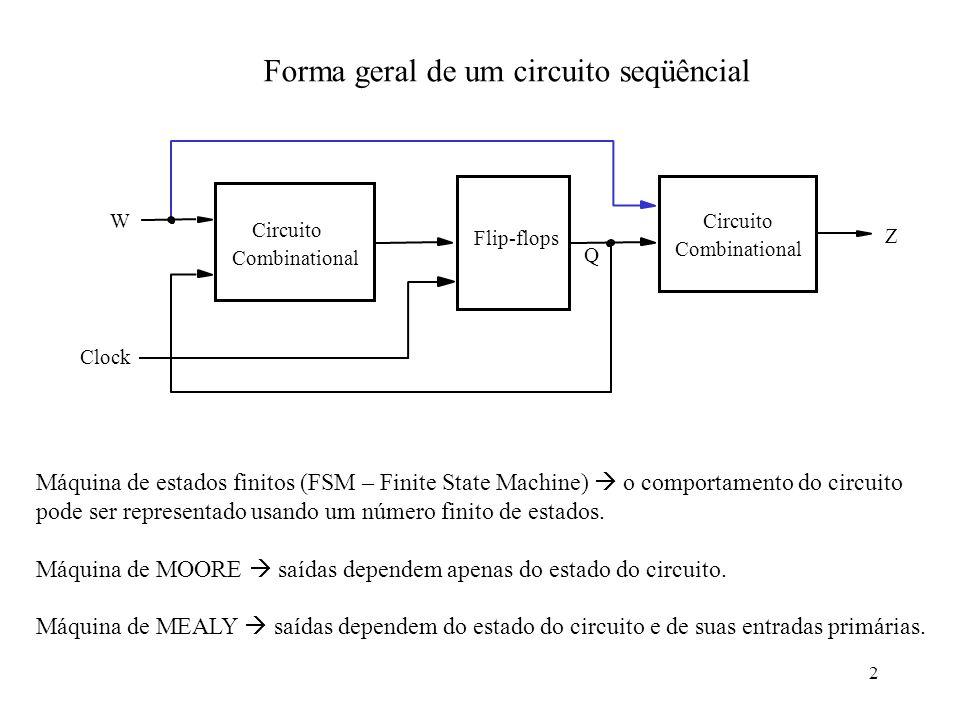 Forma geral de um circuito seqüêncial