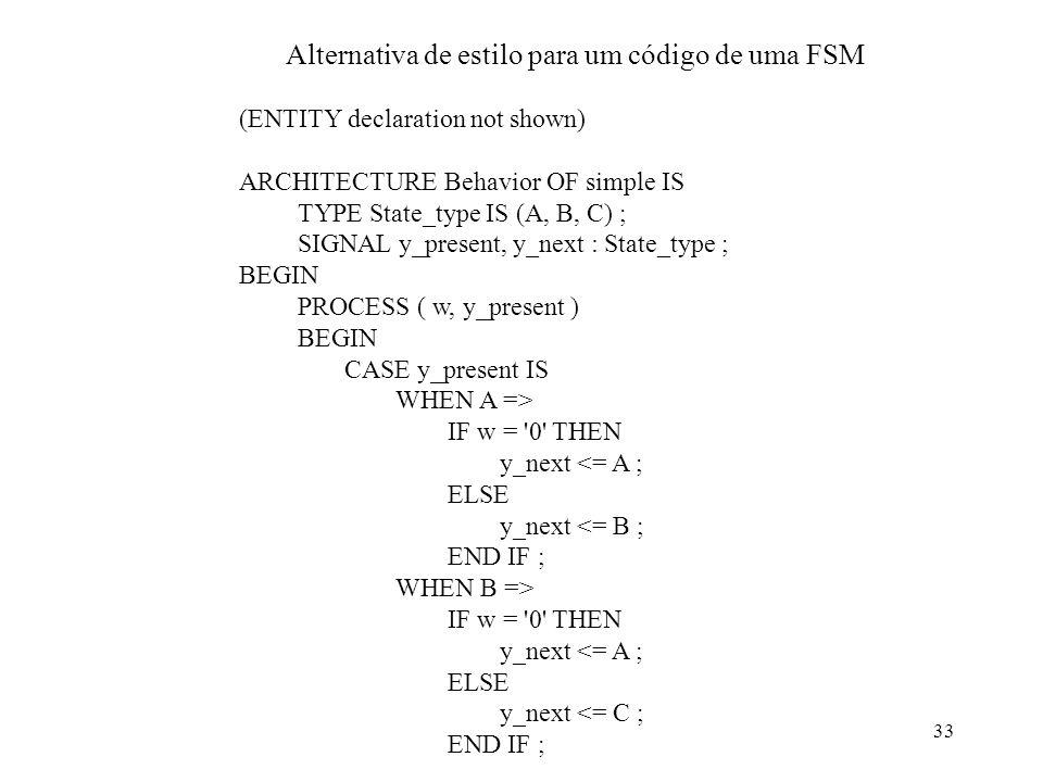 Alternativa de estilo para um código de uma FSM