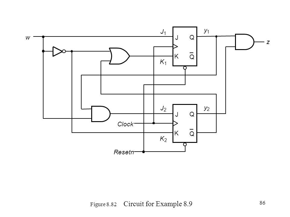 Figure 8.82 Circuit for Example 8.9
