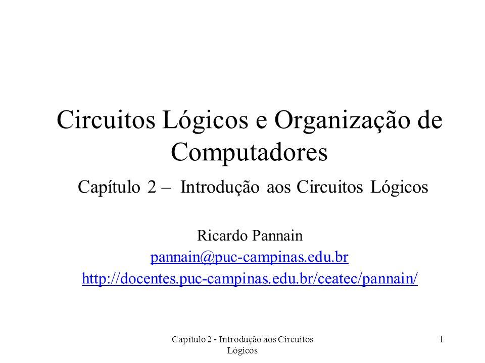 Capítulo 2 - Introdução aos Circuitos Lógicos