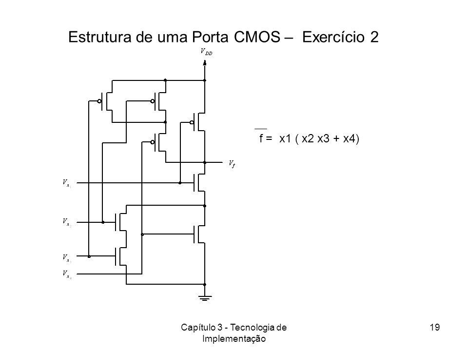 Estrutura de uma Porta CMOS – Exercício 2