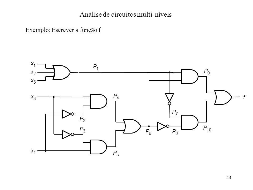 Análise de circuitos multi-níveis