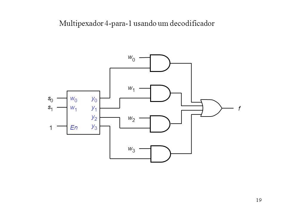 Multipexador 4-para-1 usando um decodificador