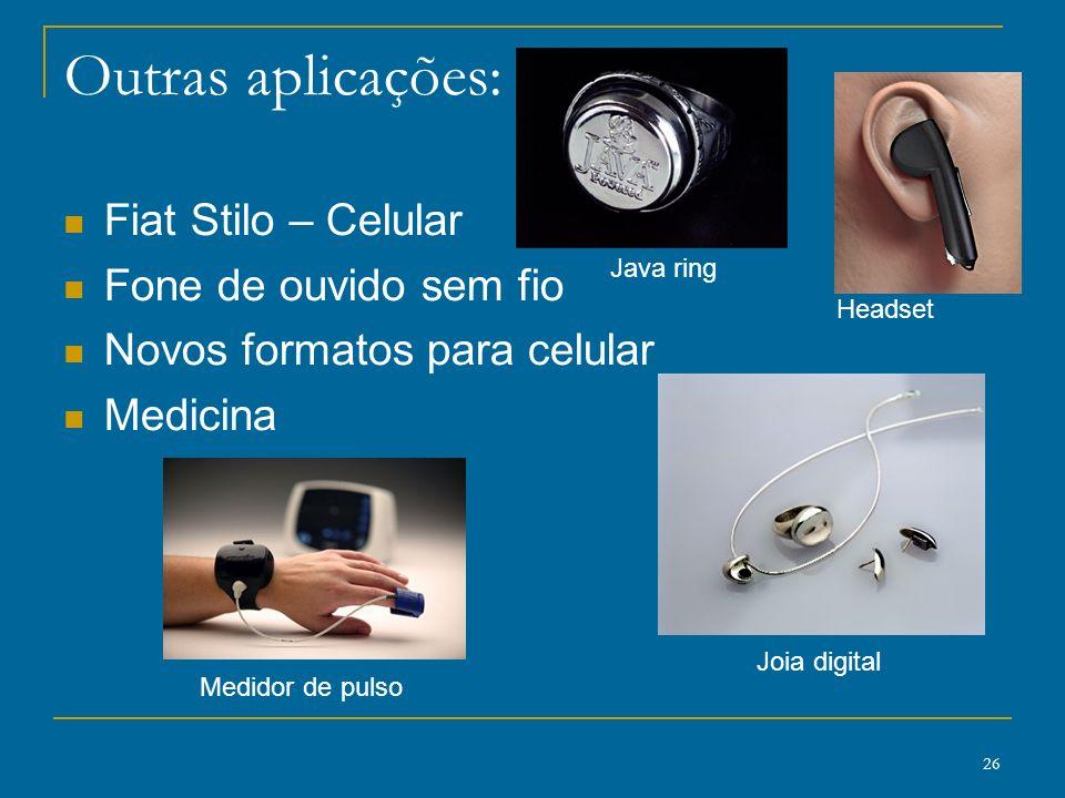 Outras aplicações: Fiat Stilo – Celular Fone de ouvido sem fio