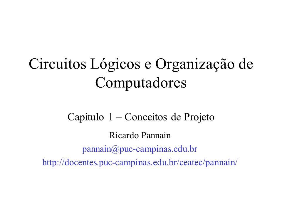 Circuitos Lógicos e Organização de Computadores Capítulo 1 – Conceitos de Projeto
