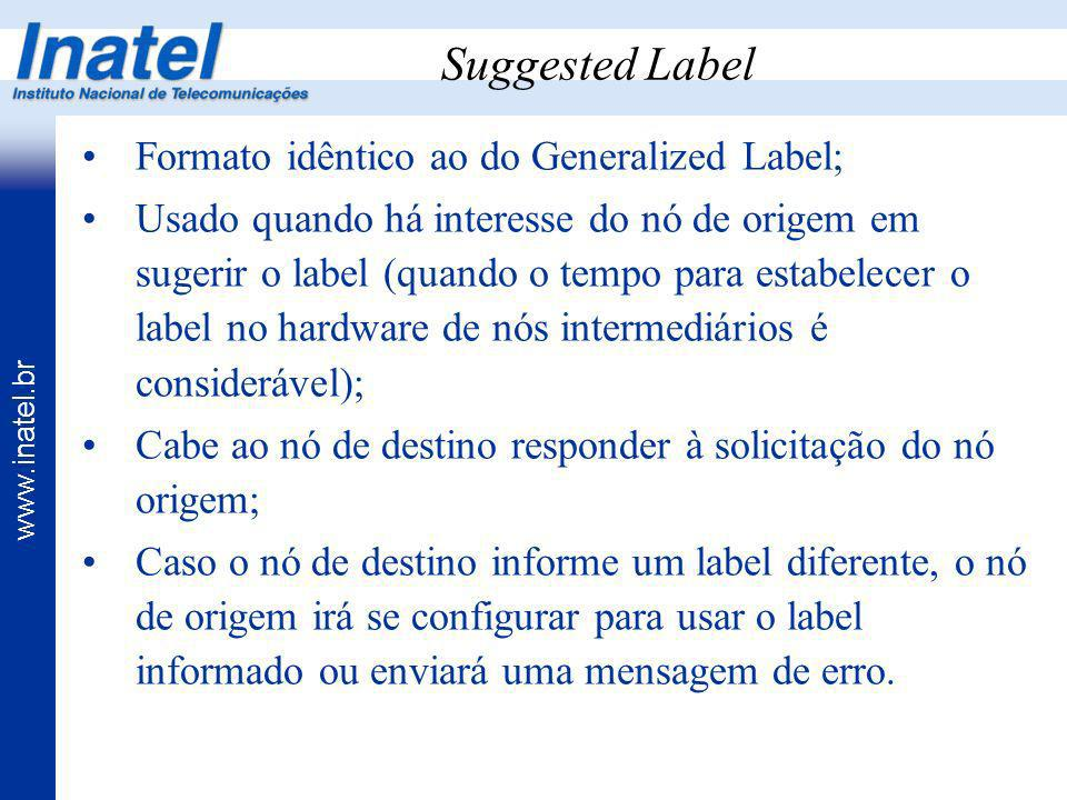 Suggested Label Formato idêntico ao do Generalized Label;