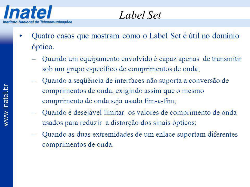 Label Set Quatro casos que mostram como o Label Set é útil no domínio óptico.