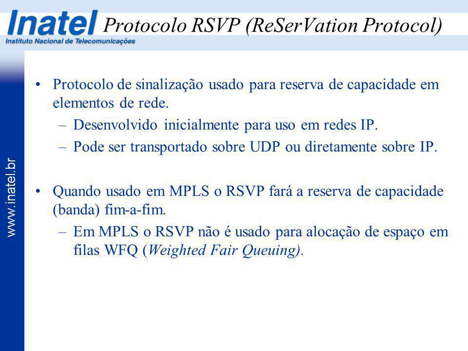 Protocolo RSVP (ReSerVation Protocol)