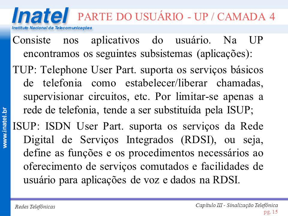 PARTE DO USUÁRIO - UP / CAMADA 4