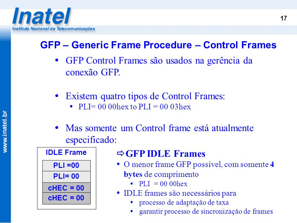 GFP – Generic Frame Procedure – Control Frames