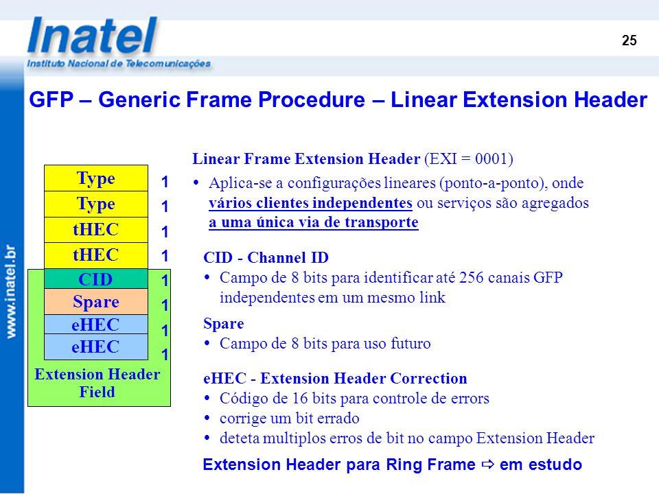 Extension Header para Ring Frame  em estudo