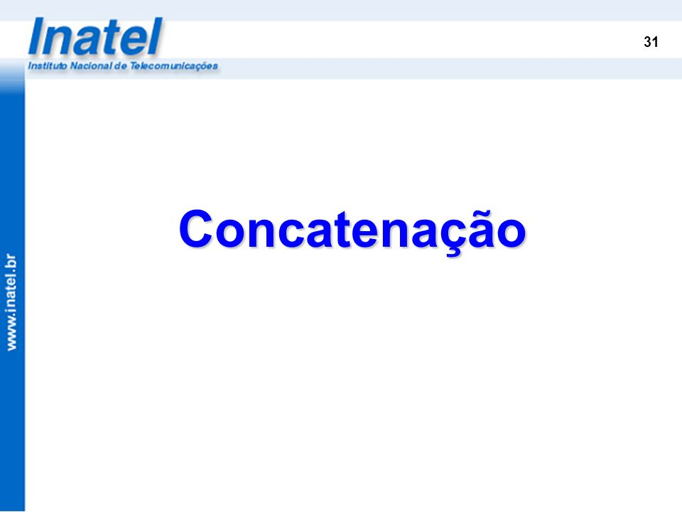 Concatenação VC Concatenação