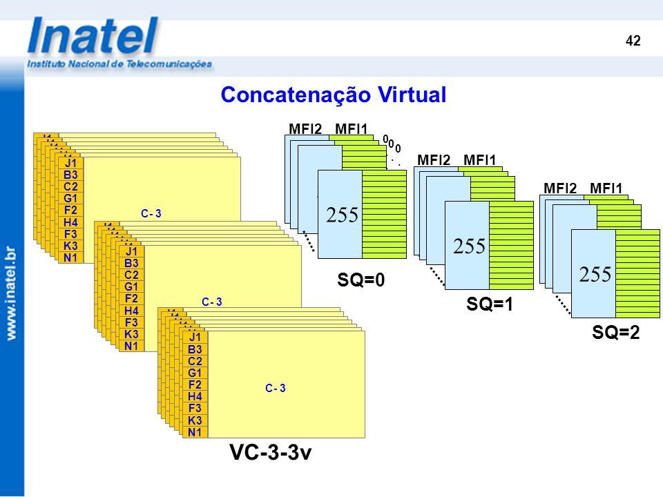 Concatenação Virtual 1 2 255 1 2 255 1 2 255 VC-3-1v VC-3-2v VC-3-3v