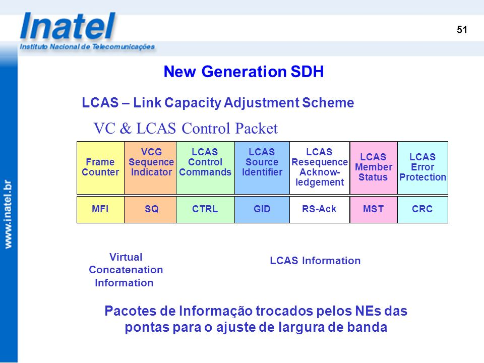 VC & LCAS Control Packet