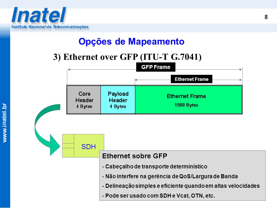 3) Ethernet over GFP (ITU-T G.7041)