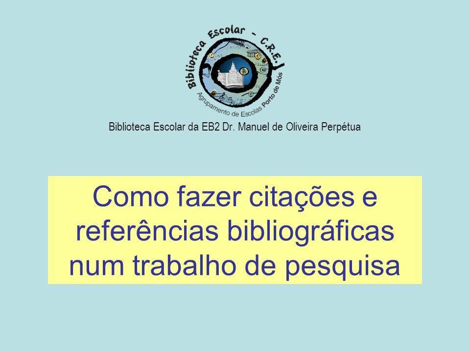 Biblioteca Escolar da EB2 Dr. Manuel de Oliveira Perpétua