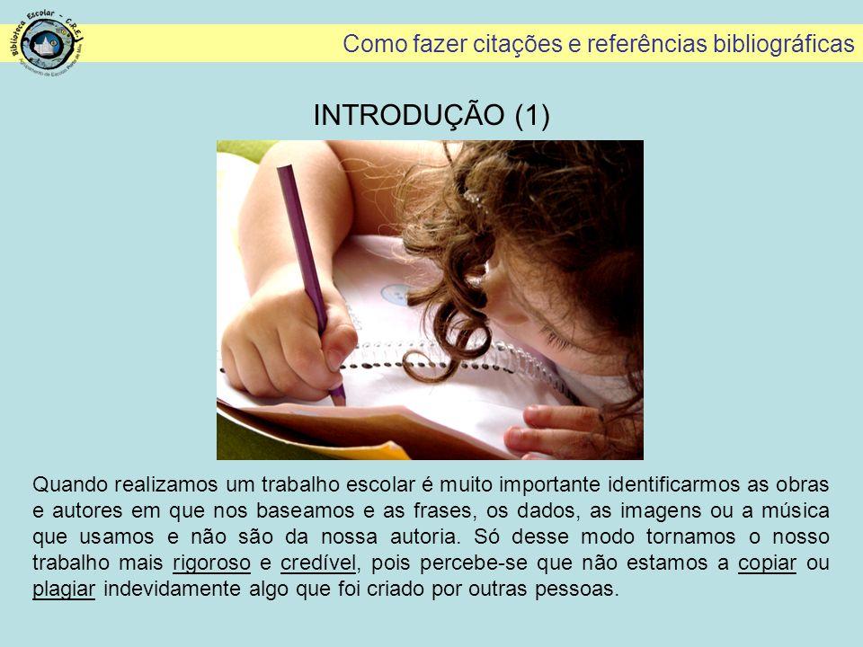 Como fazer citações e referências bibliográficas