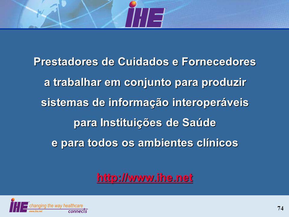 Prestadores de Cuidados e Fornecedores