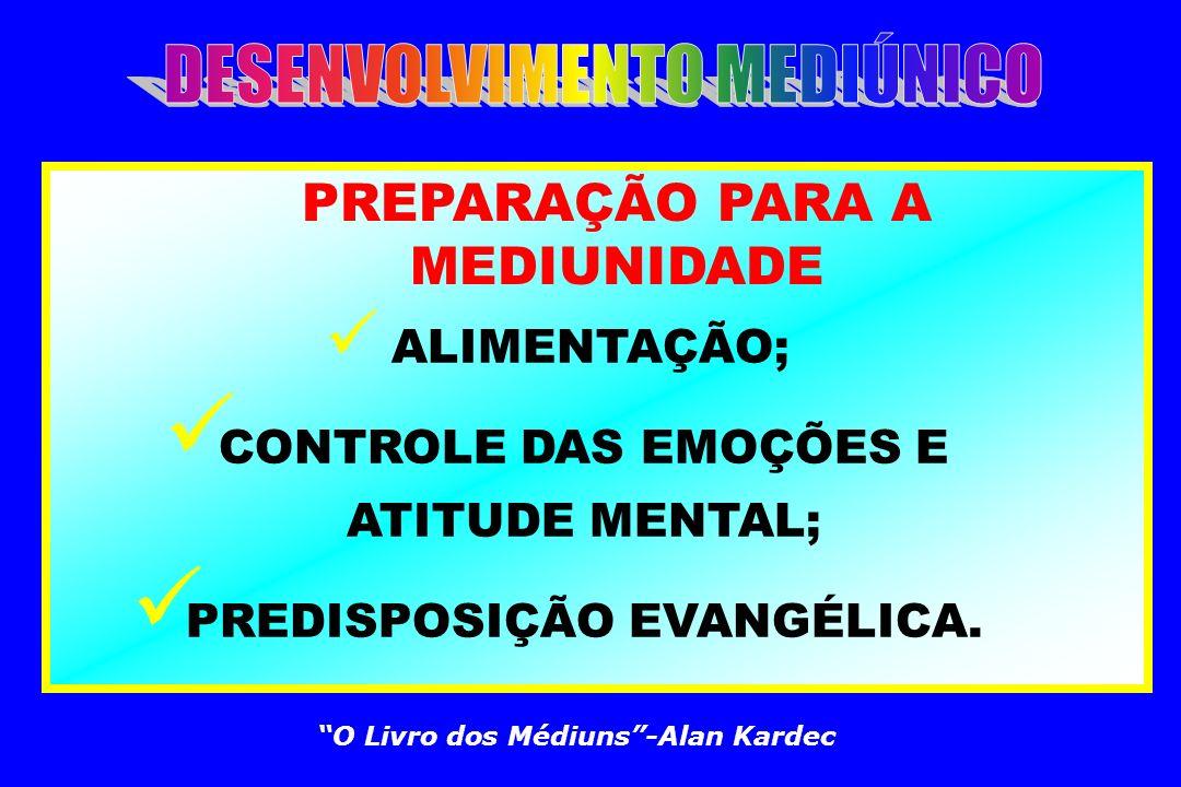 CONTROLE DAS EMOÇÕES E ATITUDE MENTAL; PREDISPOSIÇÃO EVANGÉLICA.