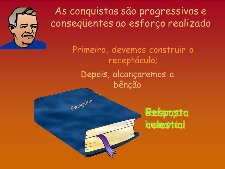 As conquistas são progressivas e conseqüentes ao esforço realizado