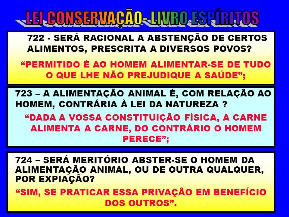 LEI CONSERVAÇÃO- LIVRO ESPÍRITOS
