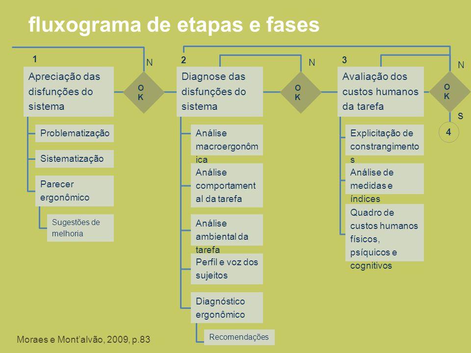 fluxograma de etapas e fases