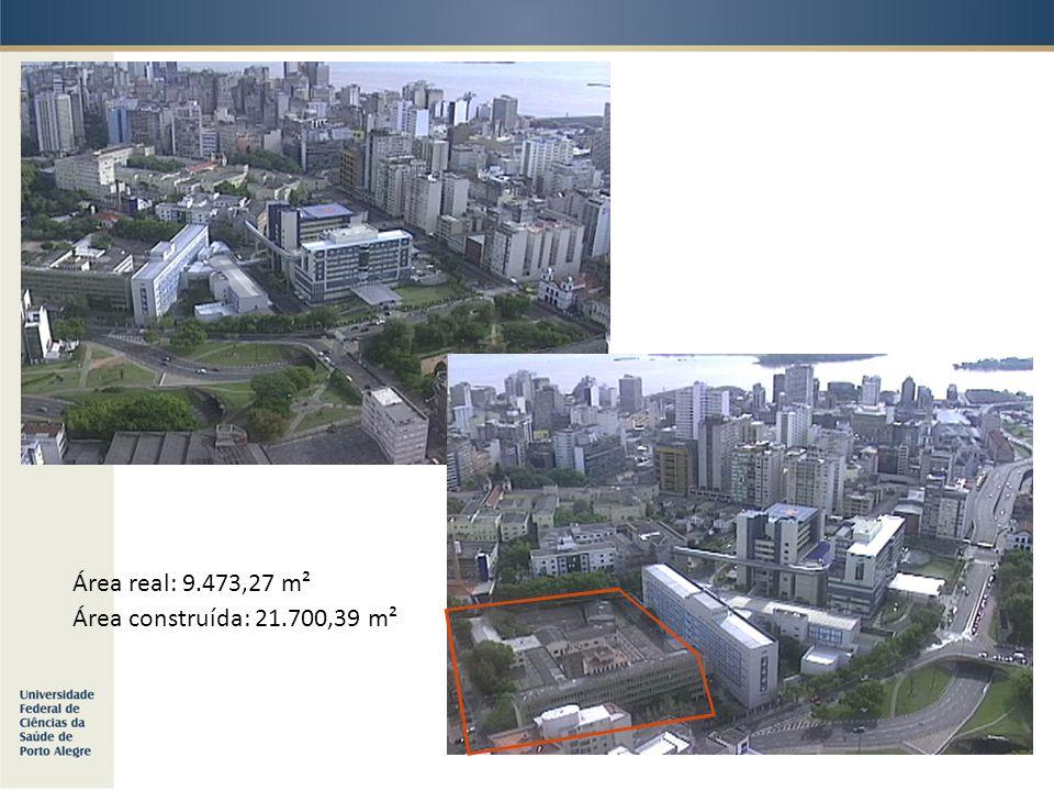 Área real: 9.473,27 m² Área construída: 21.700,39 m²