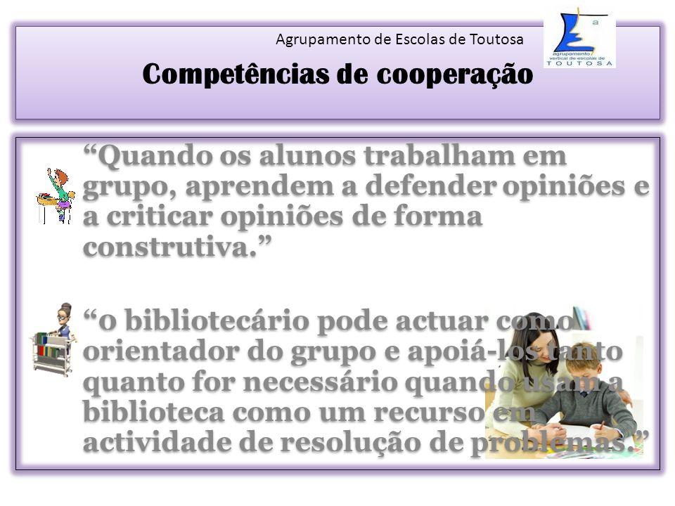 Competências de cooperação