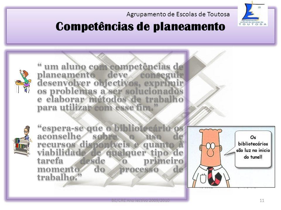 Competências de planeamento