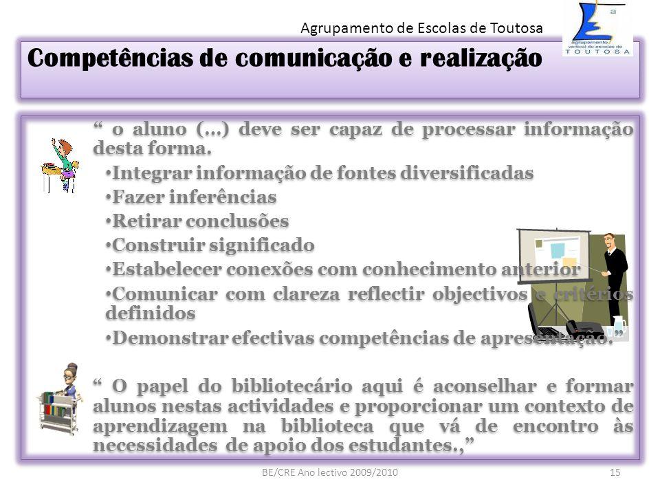 Competências de comunicação e realização