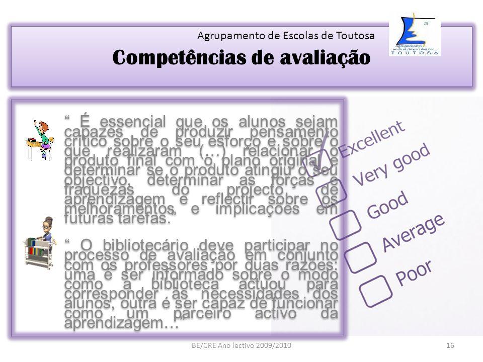 Competências de avaliação