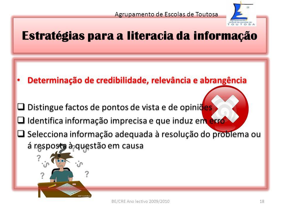 Estratégias para a literacia da informação