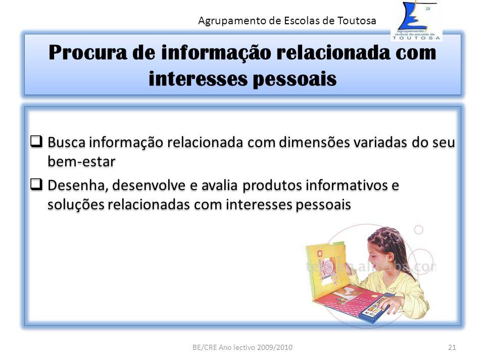 Procura de informação relacionada com interesses pessoais