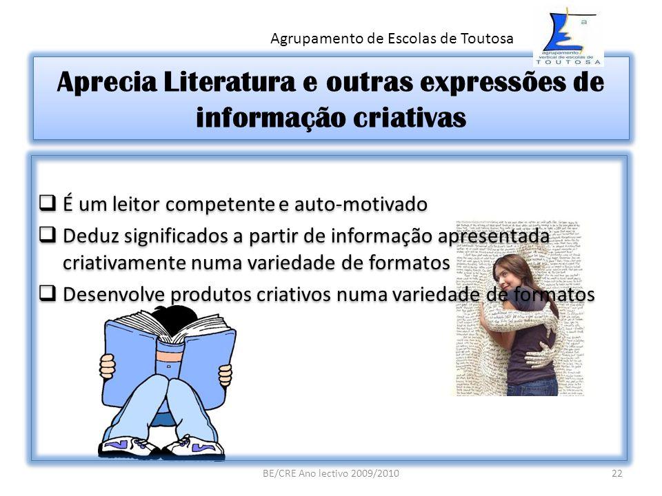 Aprecia Literatura e outras expressões de informação criativas