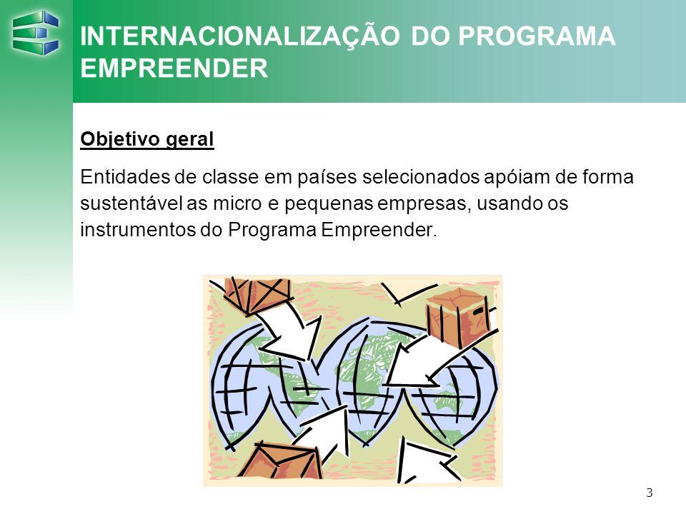 INTERNACIONALIZAÇÃO DO PROGRAMA EMPREENDER
