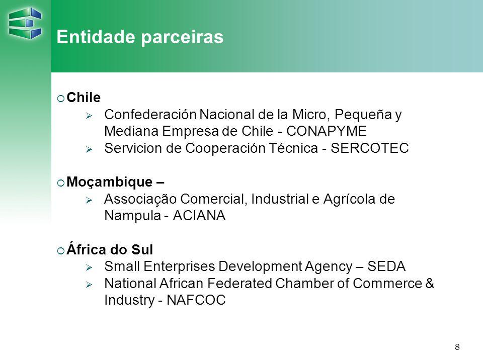 Entidade parceiras Chile