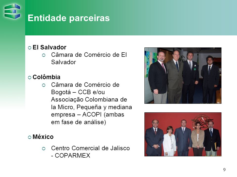 Entidade parceiras El Salvador Câmara de Comércio de El Salvador