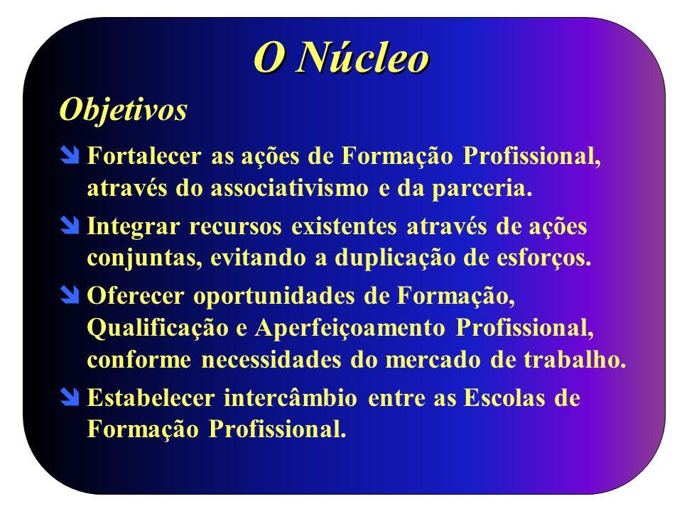 O Núcleo Objetivos. Fortalecer as ações de Formação Profissional, através do associativismo e da parceria.