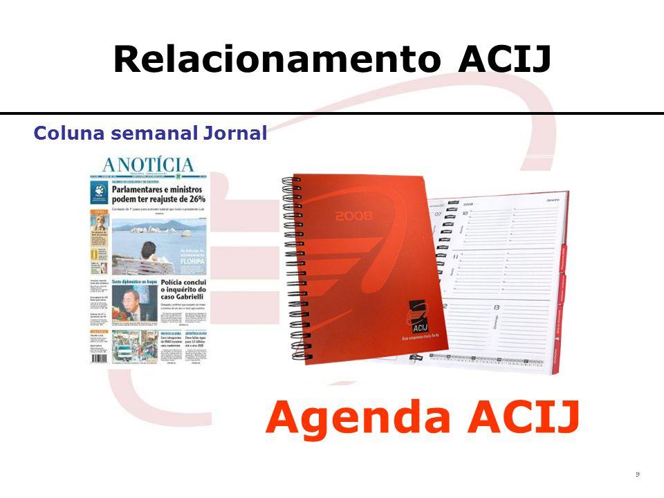 Relacionamento ACIJ Coluna semanal Jornal Agenda ACIJ