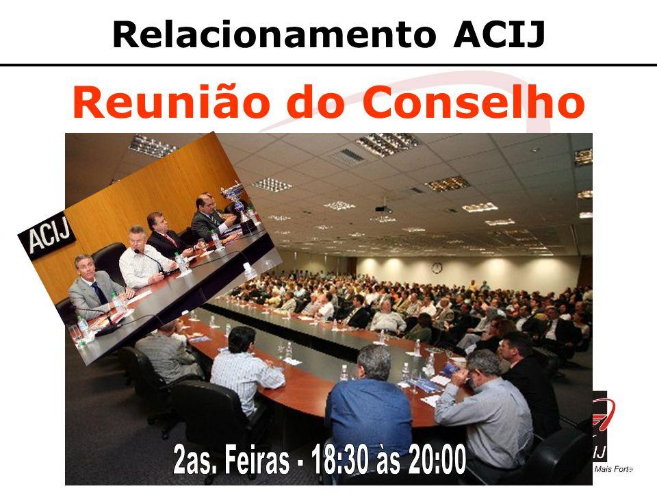 Relacionamento ACIJ Reunião do Conselho 2as. Feiras - 18:30 às 20:00