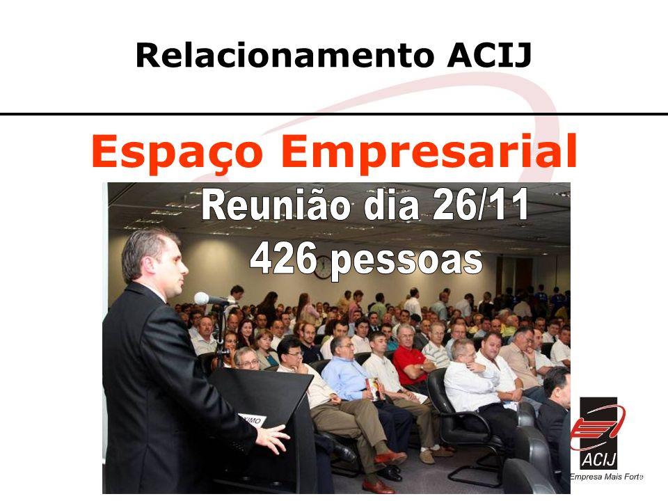 Relacionamento ACIJ Espaço Empresarial Reunião dia 26/11 426 pessoas