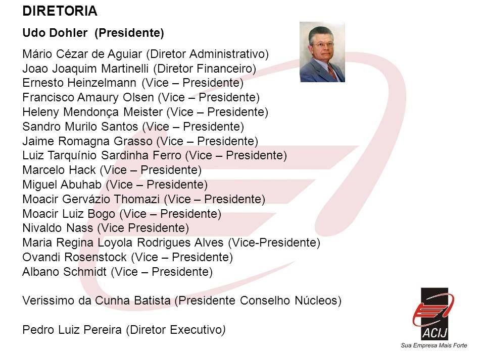 DIRETORIA Udo Dohler (Presidente)