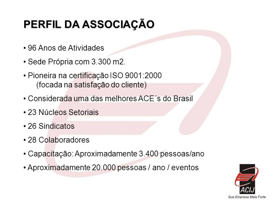 PERFIL DA ASSOCIAÇÃO 96 Anos de Atividades Sede Própria com 3.300 m2.