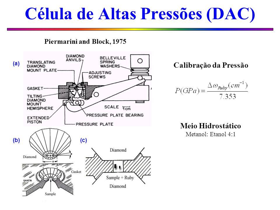 Célula de Altas Pressões (DAC)