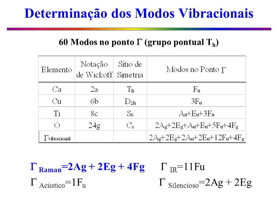 Determinação dos Modos Vibracionais