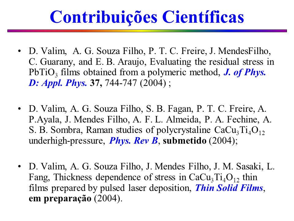 Contribuições Científicas