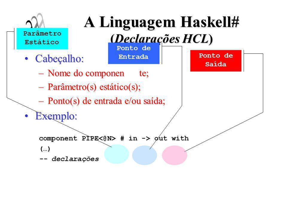 A Linguagem Haskell# (Declarações HCL)