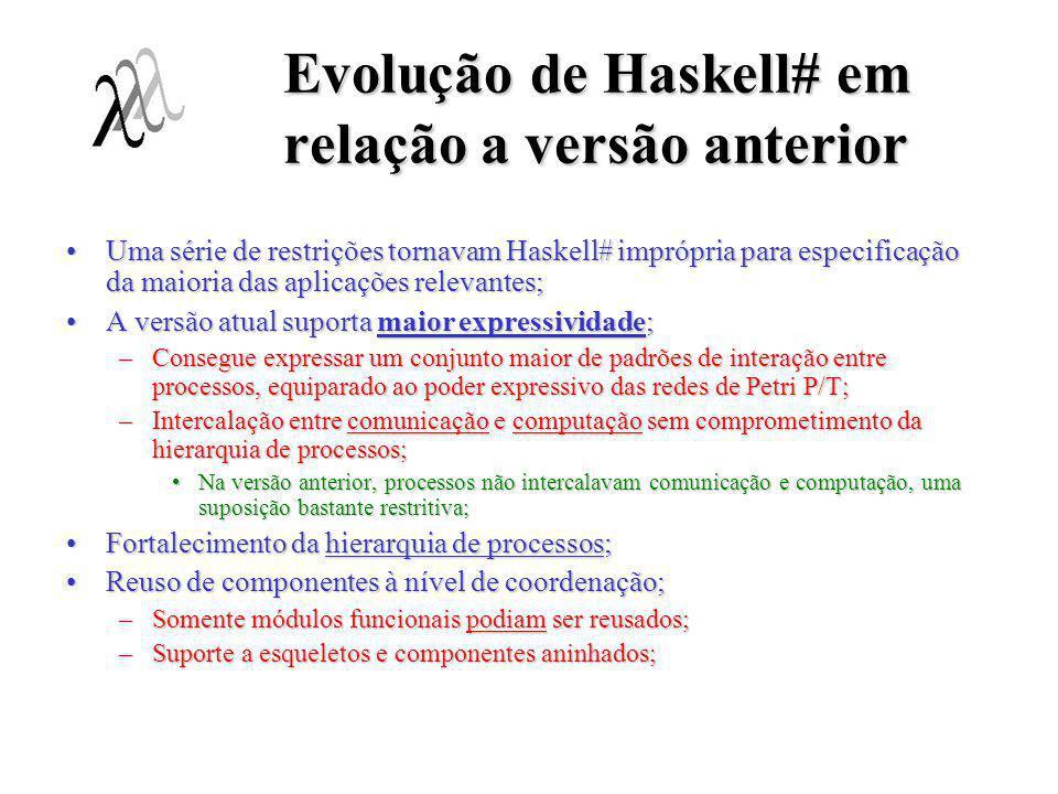 Evolução de Haskell# em relação a versão anterior